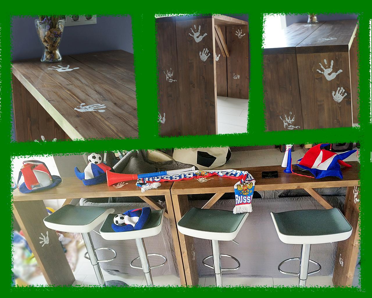 Набор барных стоек из массива сосны. Изделия из дерева на заказ - Мой Цех