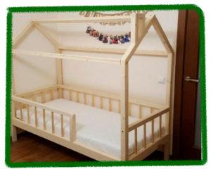 Кроватка домиком своими руками
