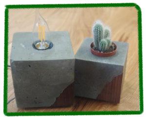 Изделия из бетона, дерево и бетон, из необычных материалов, изделия из бетона