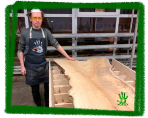 Выравнивание слэба, как обработать слеб, выровнять широкое дерево