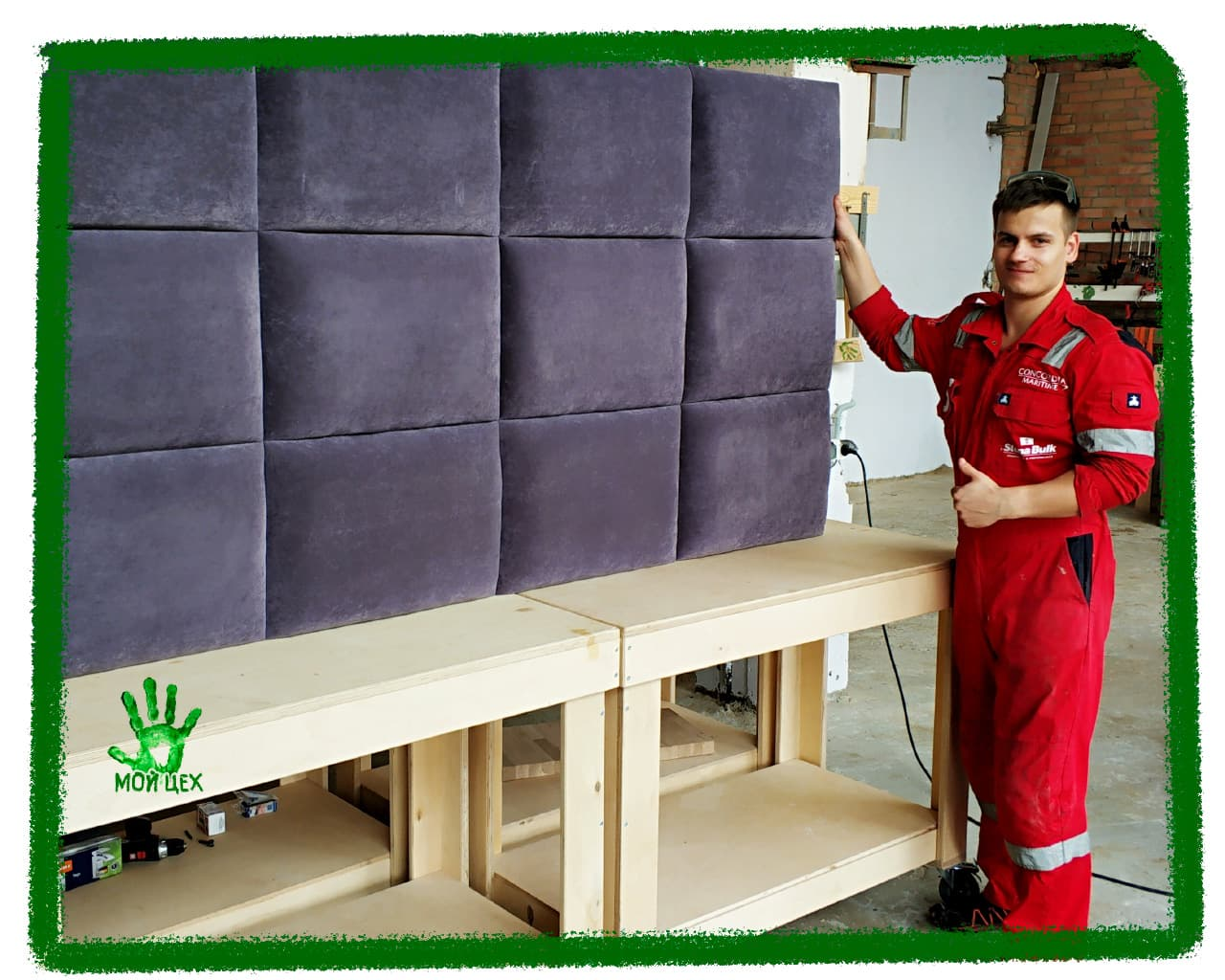 Мягкая мебель своими руками, обучение работе с пневмоинструментом