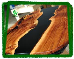 Стол из дерева и эпоксидной смолы, эпоксидка, стол-река, столешница лофт,